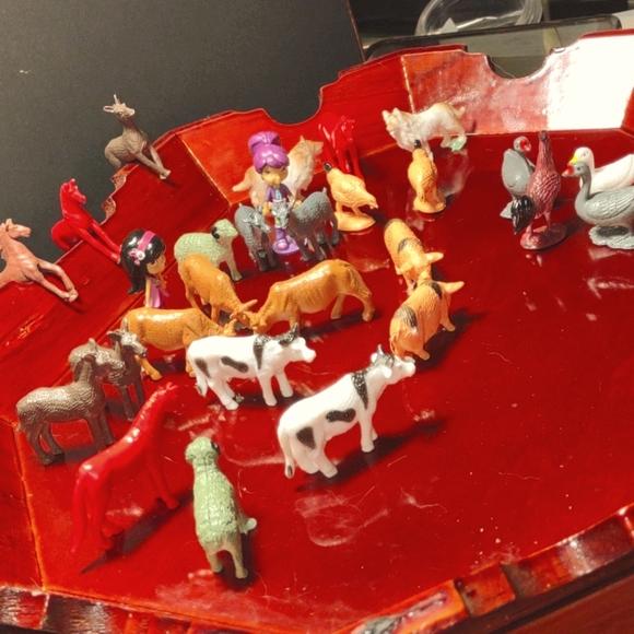Kids farm animal playset lot